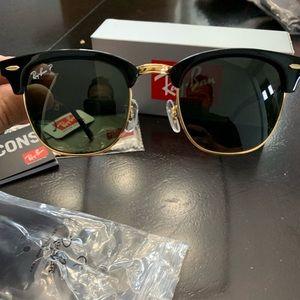 New Polarized Rayban Clubmaster Sunglasses RB3016